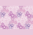 five rayed star decorative background vector image