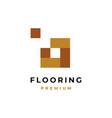 flooring logo design symbol vector image vector image