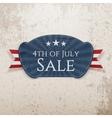 fourth july sale emblem vector image vector image