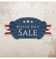 Fourth of July Sale Emblem vector image vector image