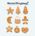 gingerbread set vector image vector image