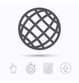 Globe icon World or internet sign