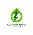 green power energy logo design vector image vector image