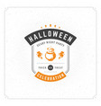 halloween celebration greeting card vector image vector image