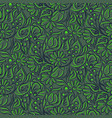 Hand drawn outline florals green gray colors