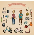 Hipster infographic concept vector image vector image