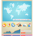 Infographic elements and the world map