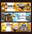 islam ramadan lantern muslim mosque and koran