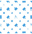 join icons pattern seamless white background vector image vector image