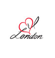 london sign handwritten lettering london city vector image vector image