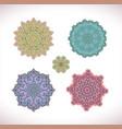 mandala colored set vector image vector image