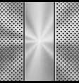 metal textured technology perforated background vector image