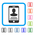 mobile person details framed icon vector image