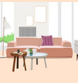 modern living room interior design vector image