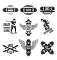 monochrome labels skaters pictures of vector image