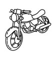 motorcycle icon doodle hand drawn or outline icon vector image