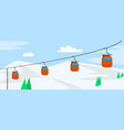 mountain ski cabine concept background flat style vector image