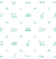 moving icons pattern seamless white background vector image vector image
