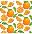 orange fruit pattern sweet sweet vintage vector image vector image