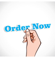 Order Now word in hand vector image