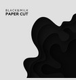 paper cut background with milk abstract soft vector image vector image