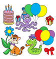 party animals collection vector image