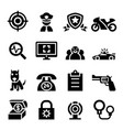 police security icon set vector image