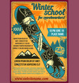 poster design with a snowboard vector image