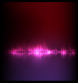 purple-red wave abstract equalizer vector image vector image