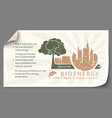 renewable energy from bioenergy paper infographics vector image vector image