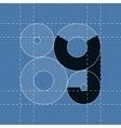 Round engineering font Symbol Y vector image vector image