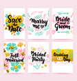 save date greeting posters vector image vector image