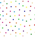 seamless background of multicolored confetti round vector image vector image