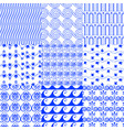 set greek traditional seamless tiled blue vector image vector image