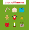 set of 9 colorful christmas vector image