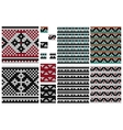 Set of knitting seamless pattern with cross vector image vector image