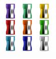 sharpener set stationery vector image vector image