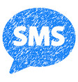 sms grunge icon vector image vector image