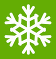 snowflake icon green vector image