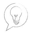 speech bubble with bulb light vector image