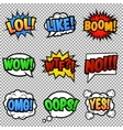 Speech bubbles tags collection vector image vector image