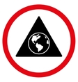 Terra Triangle Flat Rounded Icon vector image
