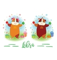 The signs of the zodiac Guinea pig Libra vector image
