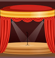 Theater or music concert scene with red curtain