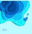top view tropical pool in paper cut style vector image vector image