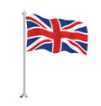 united kingdom flag isolated wave flag vector image