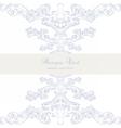 Vintage Baroque Classic Invitation card vector image