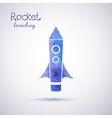 watercolor rocket icon vector image vector image