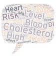 Why High Blood Cholesterol Is Dangerous text vector image vector image