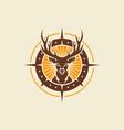 wild deer vintage logo design template vector image vector image